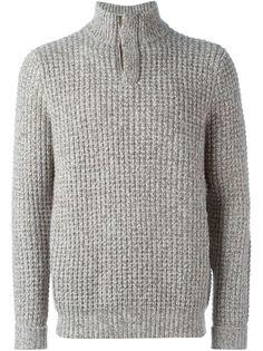 трикотажный свитер вафельной вязки N.Peal
