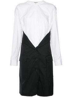 комбинированная рубашка с элементом пальто Chalayan
