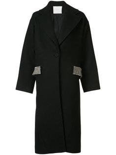 пальто с пайетками  Adam Lippes