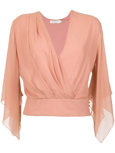 silk wrap blouse Giuliana Romanno