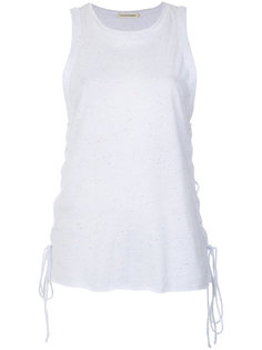 lace-up details tank top Giuliana Romanno