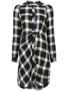 Long Sleeve Button-Down Tunic With Mandarin Collar Derek Lam 10 Crosby