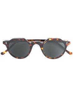 солнцезащитные очки в круглой черепаховой оправе  Lesca
