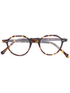 очки в круглой черепаховой оправе  Lesca