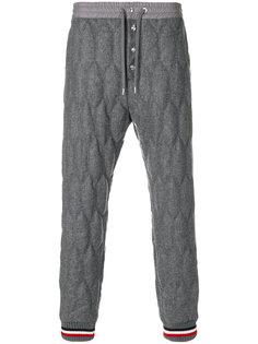 стеганые спортивные брюки Moncler Gamme Bleu
