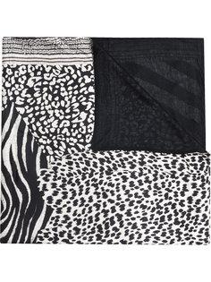 шарф с леопардовым принтом Pierre-Louis Mascia