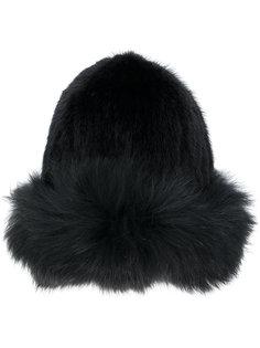шапка с меховой отделкой Yves Salomon Accessories