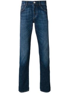 джинсы кроя слим с потертой отделкой Brunello Cucinelli