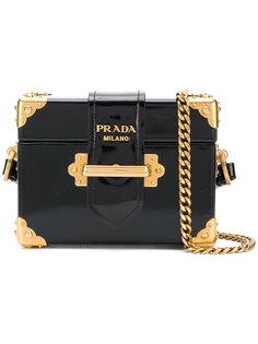 сумка через плечо на цепочке с логотипом Prada