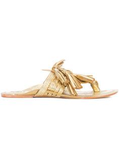 tassel flat sandals Figue