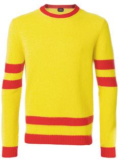 свитер с полосатой отделкой Mp  Massimo Piombo