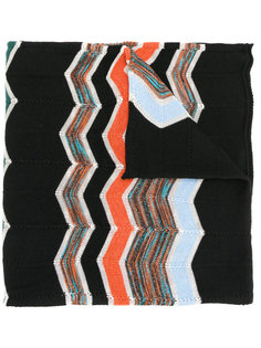 шарф с зигзагообразным узором M Missoni