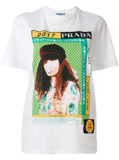 футболка с принтом Continuous Interior Prada