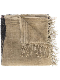 bicolour scarf Uma Wang
