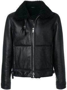 куртка с меховым воротником Jil Sander