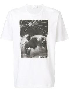 футболка с фото-принтом Jil Sander