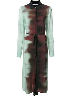 ombré tie waist shirt dress Rosetta Getty