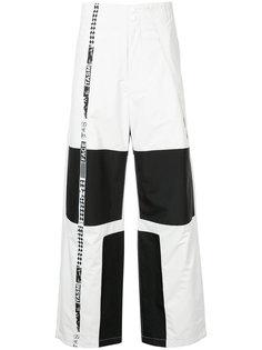 брюки с контрастными панелями Facetasm