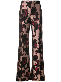 flared patterned trousers Christian Siriano