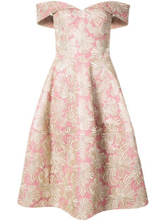floral embroidered off-shoulder dress Christian Siriano