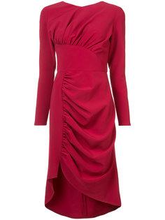 asymmetric rushed dress  Christian Siriano