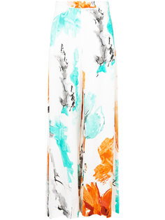 watercolour pattern skirt  Christian Siriano