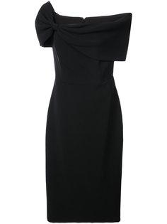 asymmetric shoulder dress Christian Siriano