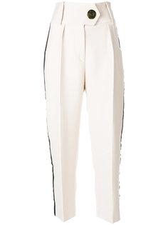 укороченные брюки с лампасами Petar Petrov