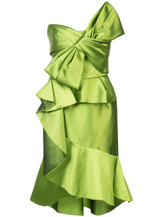 ruffled bow dress Marchesa