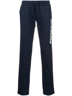 спортивные брюки с принтом логотипа Iceberg