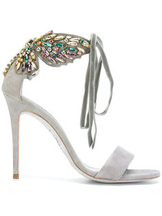 embellished butterfly heeled sandals René Caovilla