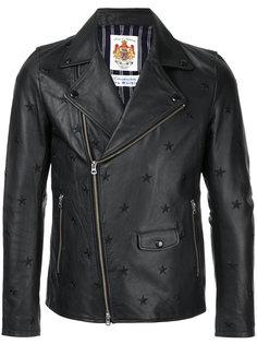 байкерская куртка с вышивкой звезд Education From Youngmachines