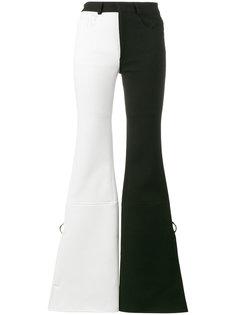 двухцветные брюки клеш  Marquesalmeida