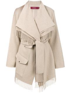пальто с запахом и бахромой  Sies Marjan