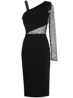 приталенное платье с полупрозрачной вставкой  David Koma