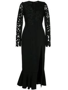 платье миди с кружевной вышивкой  David Koma
