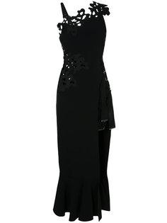 расклешенное платье с кружевной вышивкой  David Koma