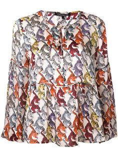 блузка с тиграми  Luisa Cerano