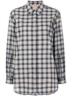 рубашка в клетку с отделкой стразами  Nº21