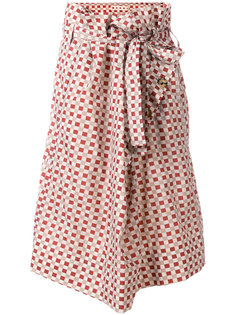 wrap checked skirt Marni