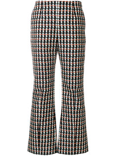 abstract print flared trousers Marni