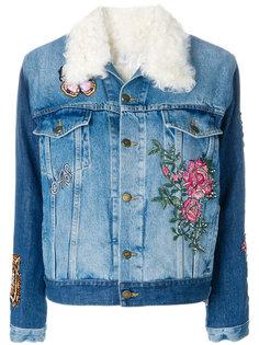 patch detail denim jacket As65