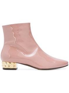contrast heel ankle boots LAutre Chose
