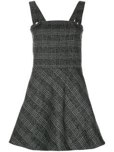 платье в клетку с капюшоном  Wood Wood