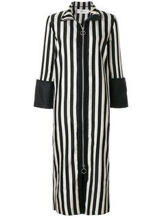 striped zipped coat Marquesalmeida