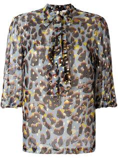 блузка с принтом и оборкой  LAutre Chose