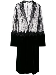 tulle panel single breasted coat Comme Des Garçons Noir Kei Ninomiya