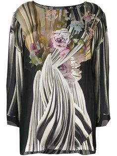 блузка с цветочным принтом  Alberta Ferretti