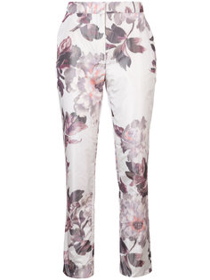 floral print cigarette trousers Brock Collection
