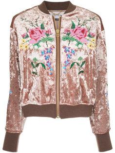 embroidered velvet bomber jacket  Muveil